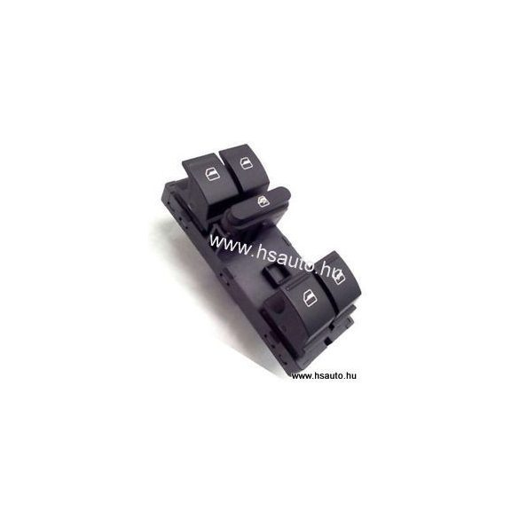 Skoda Fabia II-Octavia II-Roomster-Superb-Yeti ablakemelő kapcsoló 4 ablakos