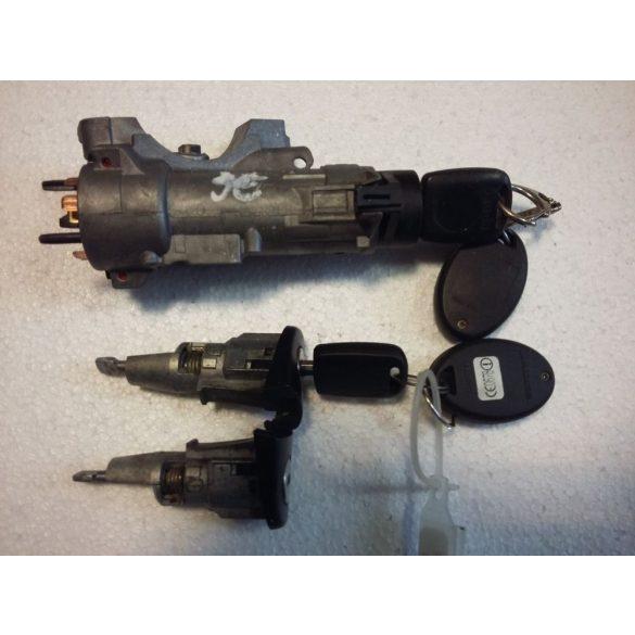 Skoda Fabia zárgarnitúra / gyújtáskapcsoló és 2 zárbetét 2 kulccsal/
